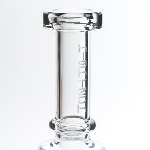 Clear Rip Tide Cheese Tube Water Pipe