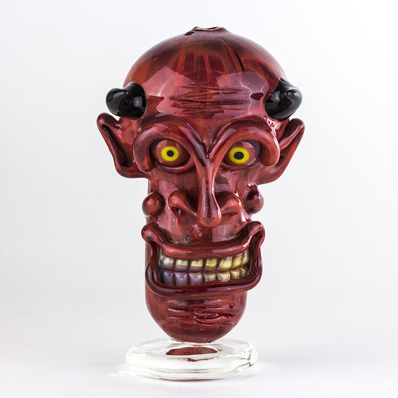 Crush Glass - Insane Asylum Face Pipe -  - Dry Pipe - Cloud Culture - 1
