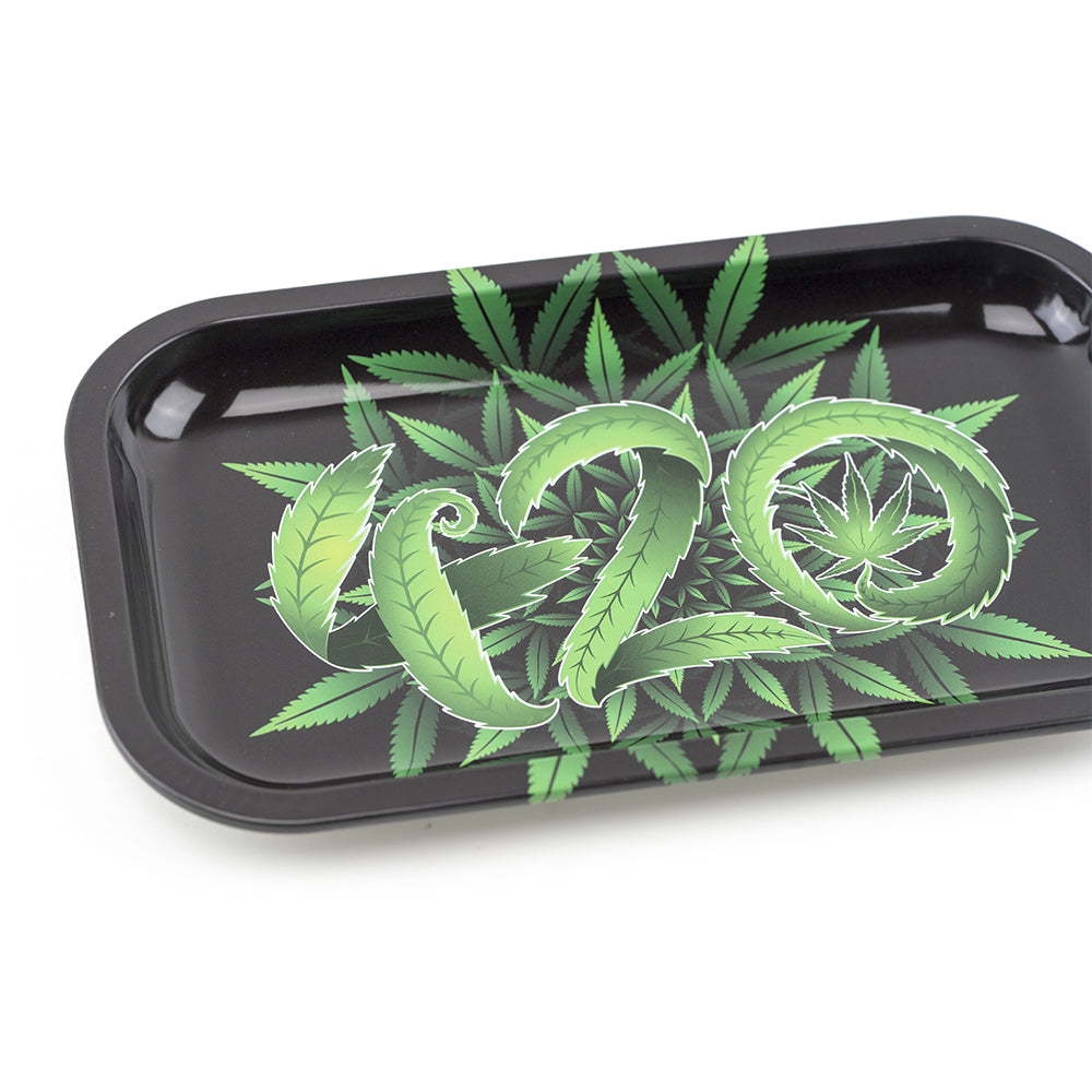 420 Mandala Leaves Rolling Tray