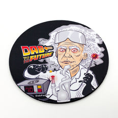 Dab to the Future Oil Mat