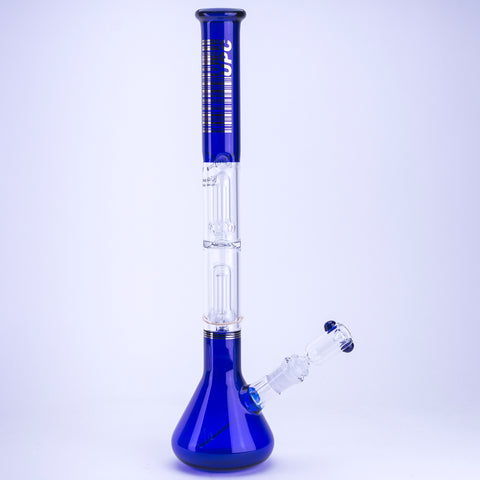 "UPC Platinum Percolated ""Bi-Line"" Beaker Water Pipe"