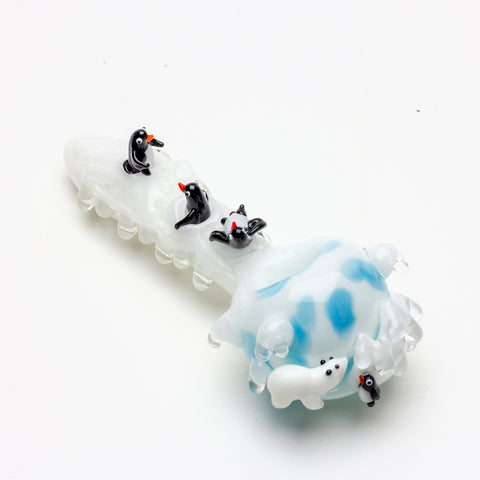 Icy Penguins Spoon Pipe