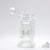 White - Stereo Perc Water Pipe