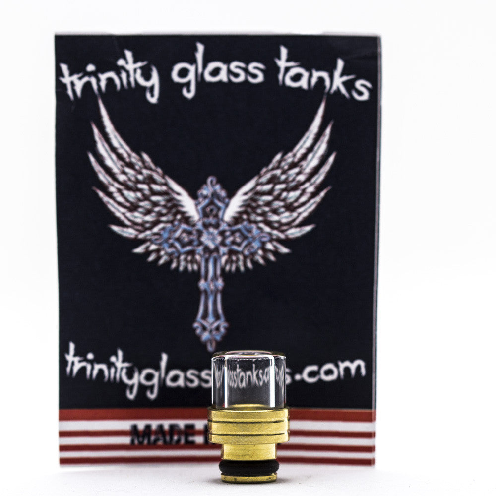 Trinity Glass - Shorty Pyrex Drip Tip - Gold -  - Drip Tip - Cloud Culture - 1