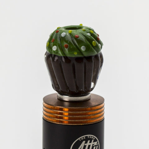 Empire Glassworks - Wide Bore Cupcake Glass Drip Tip - Green/Brown - Drip Tip - Cloud Culture - 3