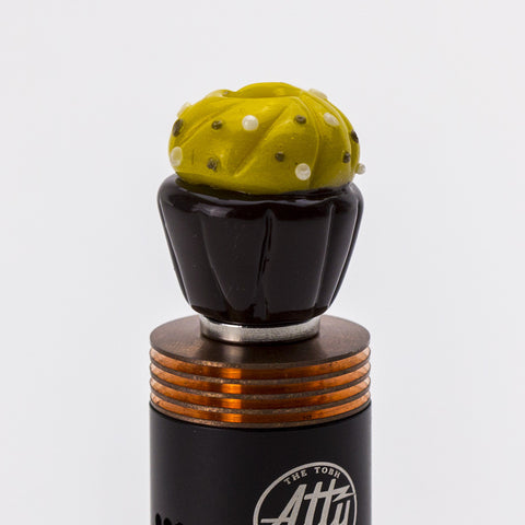 Empire Glassworks - Wide Bore Cupcake Glass Drip Tip - Yellow/Brown - Drip Tip - Cloud Culture - 7
