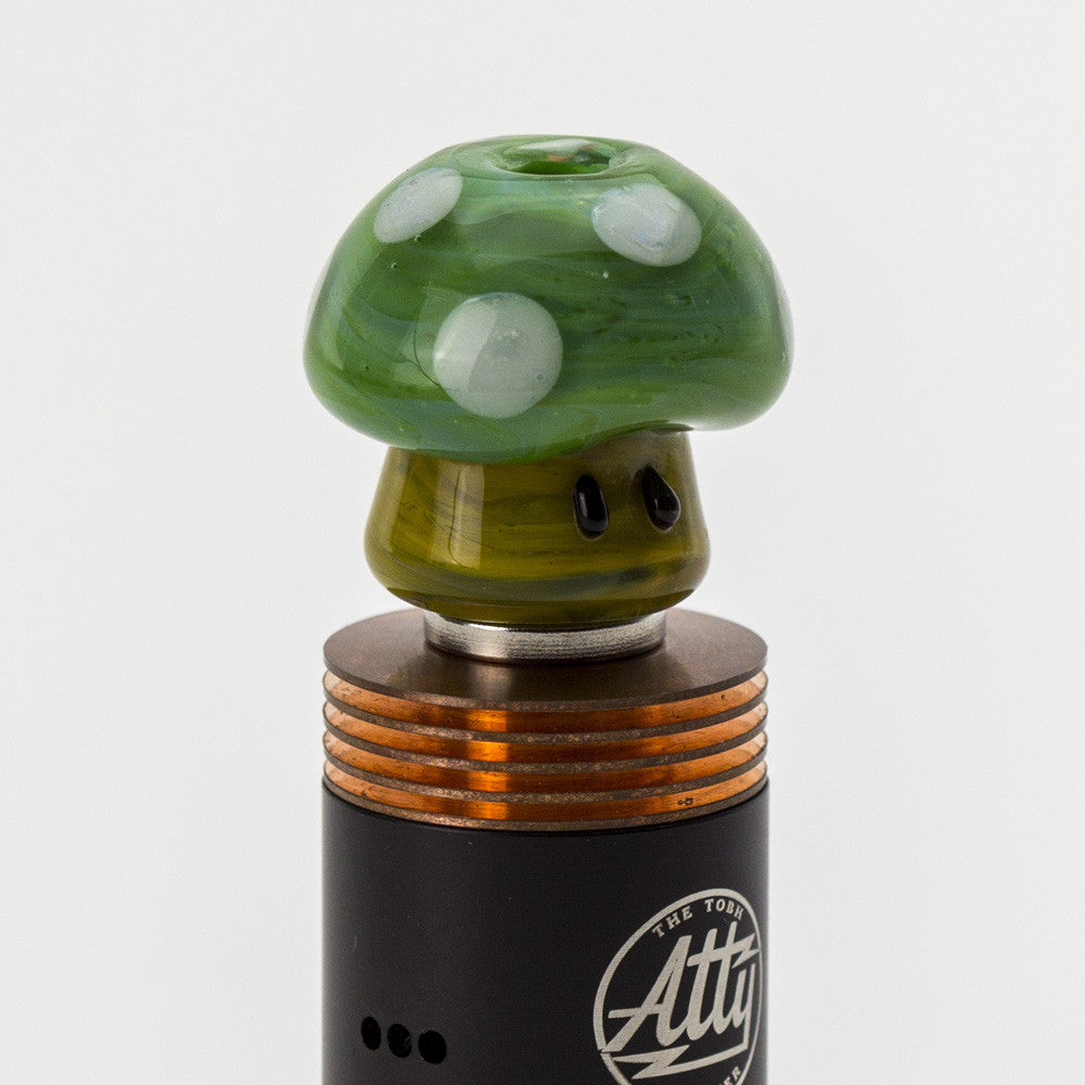 Empire Glassworks - Wide Bore Mushroom Glass Drip Tip - Green - Drip Tip - Cloud Culture - 3