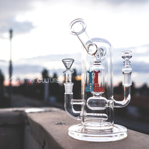 "Grav Labs - ""The Android"" Dual Function 8"" Water Pipe Rig -  - Water Pipe - Cloud Culture - 6"