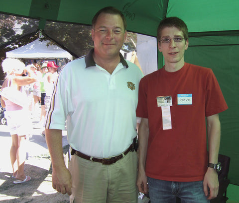 Steve and The Mayor of Barrie, Dave Aspden, at Kempenfest 2007 - Won Best in Show