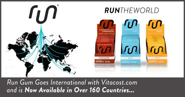 Run Gum Goes International with Vitacost.com