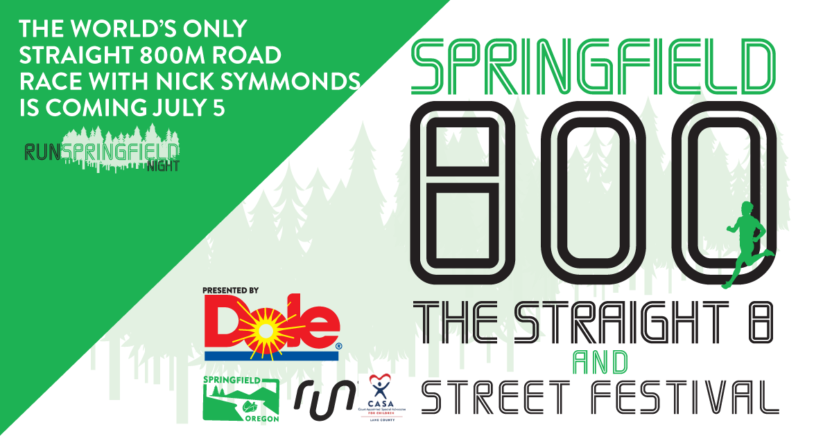 Nick Symmonds and the City of Springfield Announce the 5th Annual World's Only Straight 800m on July 5th.