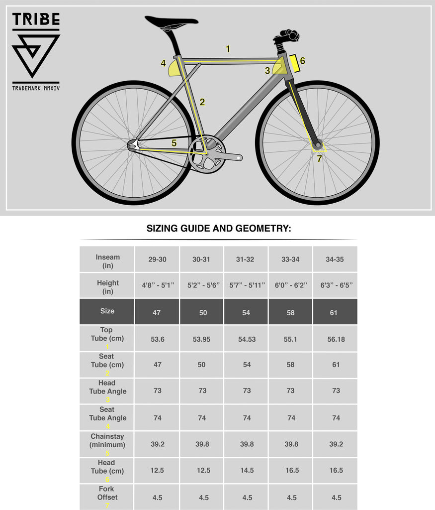 Mess 003 Frame Portland Tribe Bicycle Co Diagram The Of Is Sizing Chart