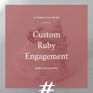 Alternative Bridal: Custom Ruby Engagement
