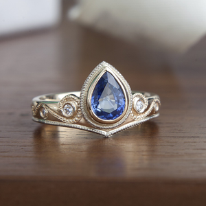 Alternative Bride: A Custom Blue Sapphire Engagement Ring