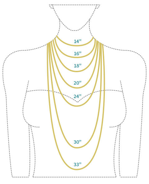Image result for necklace length