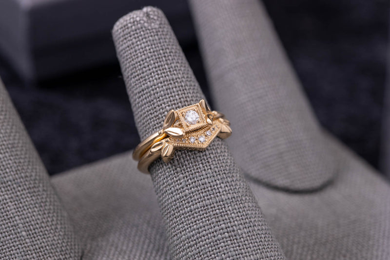 Olive and Arch Wedding Band