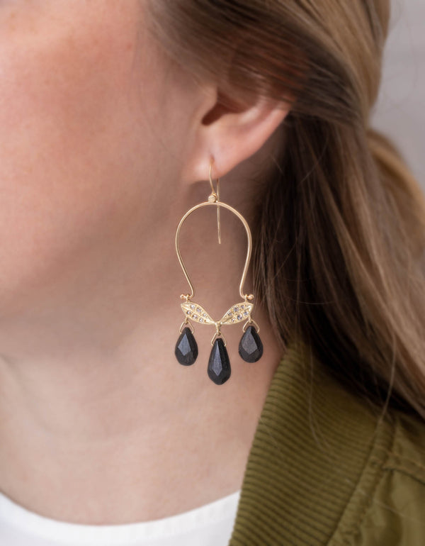Ebony Triptych Earrings