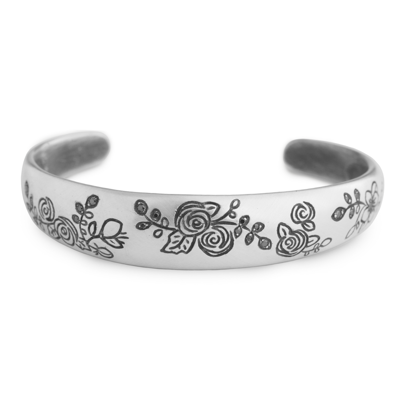 Flower Patch Cuff Bracelet - Melissa Scoppa Jewelry