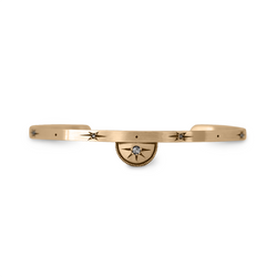 Gold Luna Half Moon Bangle Bracelet