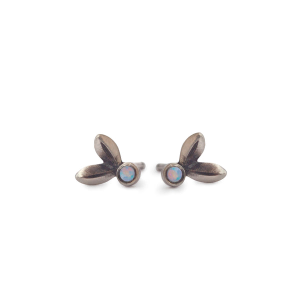 Olive Leaf Diamond Studs