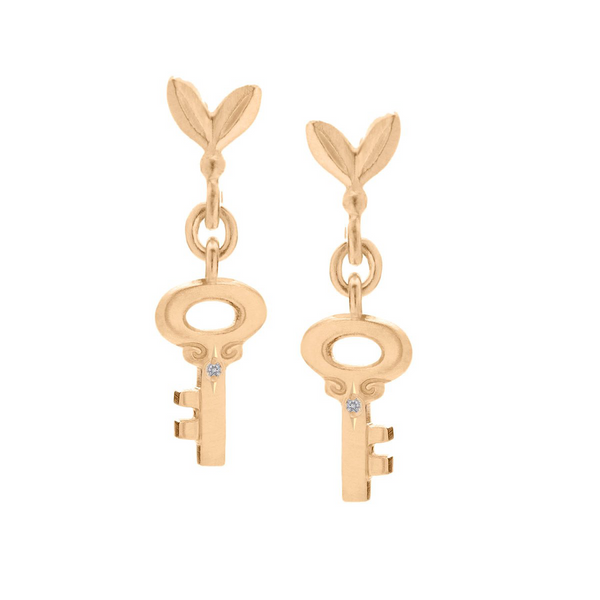 Olive and Key Link Earrings