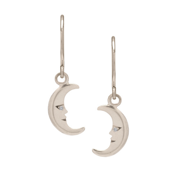 Moon Charm Earrings