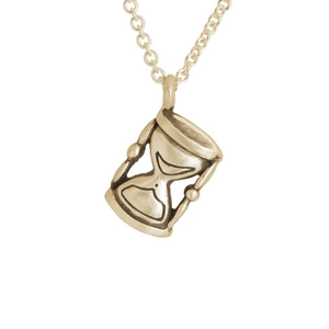 Gold Hanging Hourglass - Melissa Scoppa Jewelry