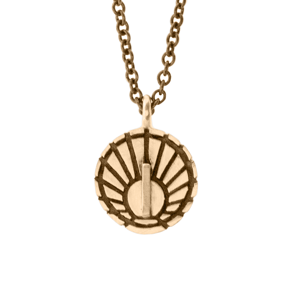 Little Sundial Pendant - Melissa Scoppa Jewelry