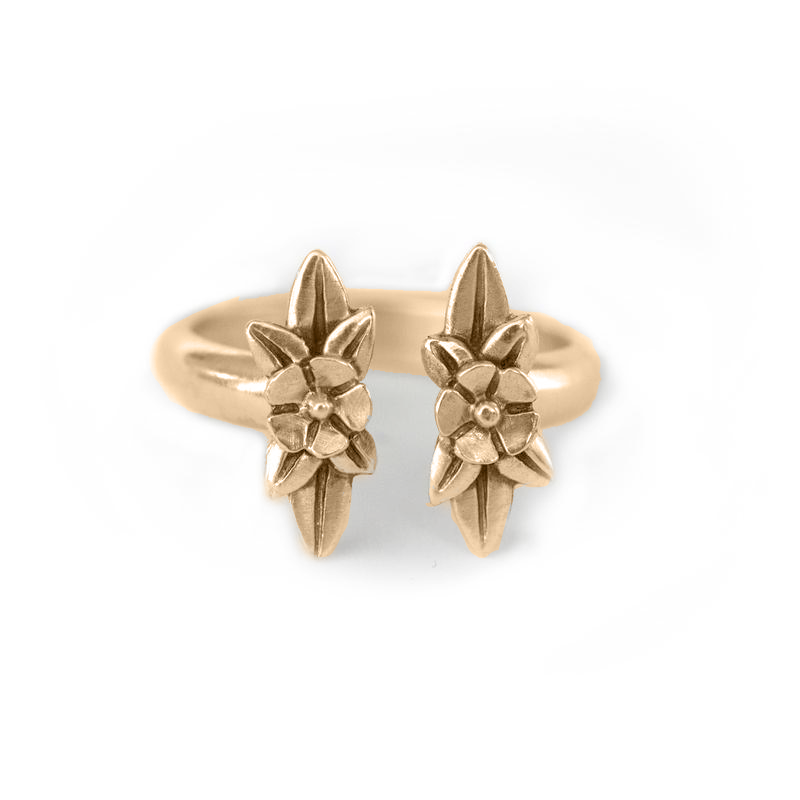 Twin Wildflowers Ring - Melissa Scoppa Jewelry