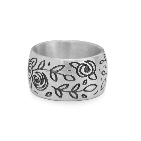 Wide Flower Patch Ring - Melissa Scoppa Jewelry