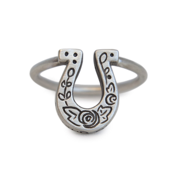 Lucky Horseshoe Ring - Melissa Scoppa Jewelry