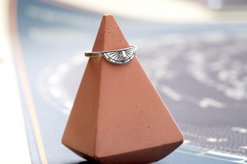 Sundial Roman Numeral Stacker Ring
