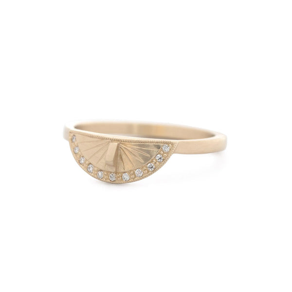 Sundial Pavé Stacker Ring