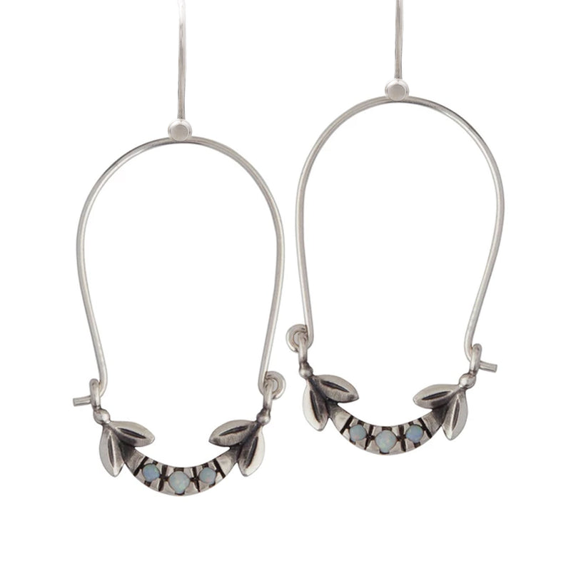 Olive Leaf Drop Earrings