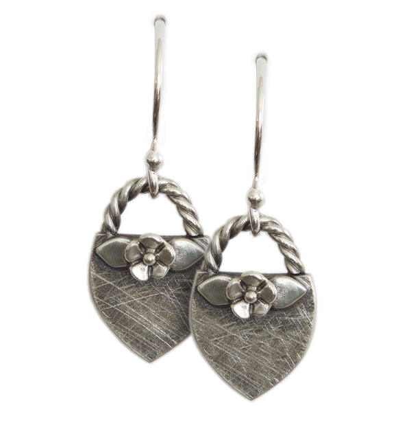 Floral Crest Dangle Earrings - Melissa Scoppa Jewelry