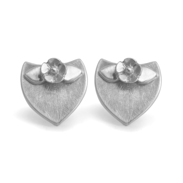 Floral Crest Stud Earrings - Melissa Scoppa Jewelry