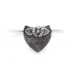 Flower & Crest Ring - Melissa Scoppa Jewelry