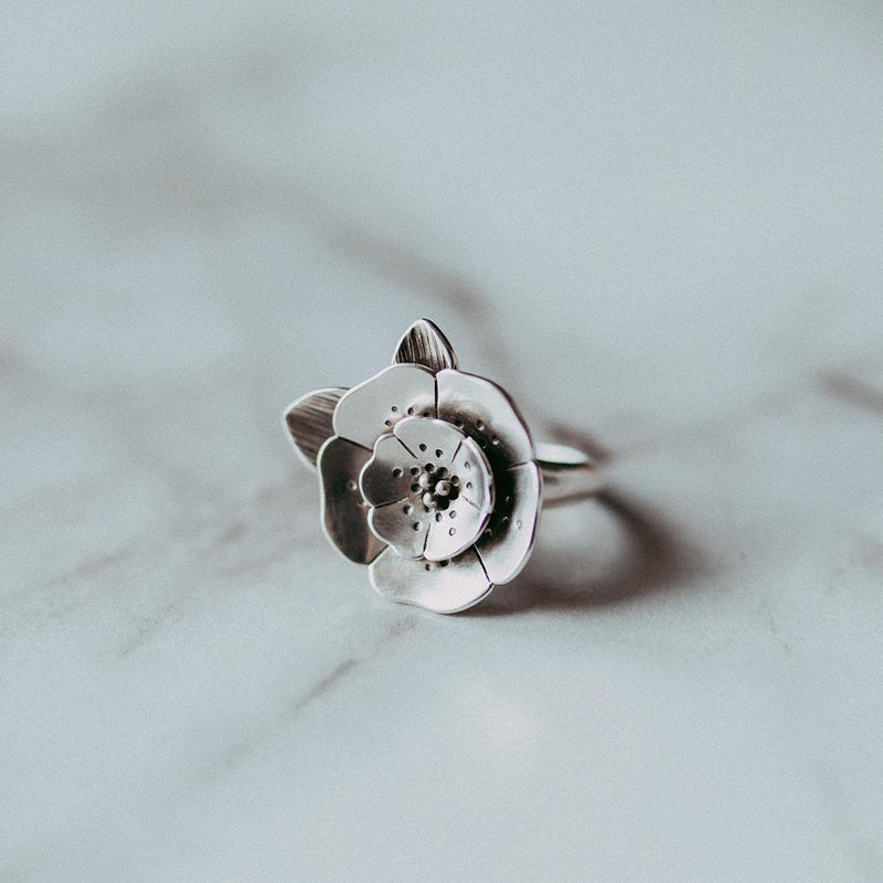 Large Flower Statement Ring