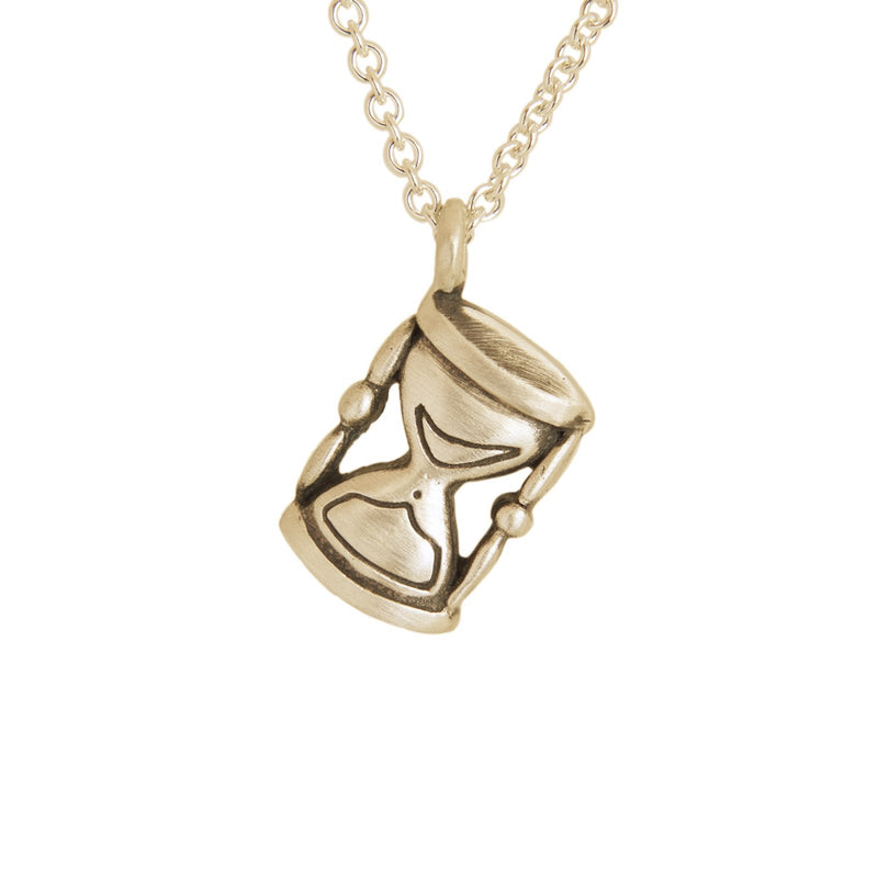 Hanging Hourglass Pendant Gold