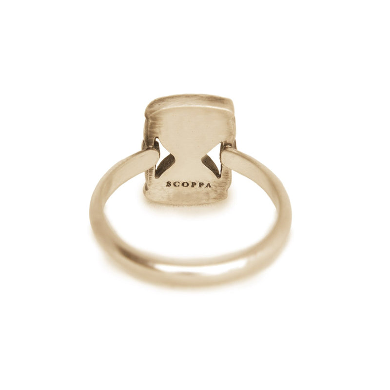 Gold Hourglass Ring - Melissa Scoppa Jewelry
