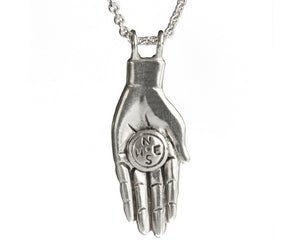 "Guiding Hand with Compass-Pendants-Melissa Scoppa-16"" Chain-Melissa Scoppa"