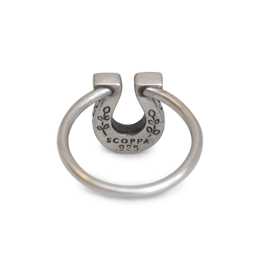 Lucky Horseshoe Ring-Rings-Melissa Scoppa-5-Melissa Scoppa