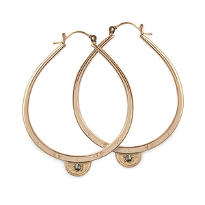 Gold Half Moon Luna Hoops