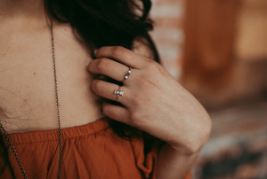 Mini Hourglass Ring - Melissa Scoppa Jewelry