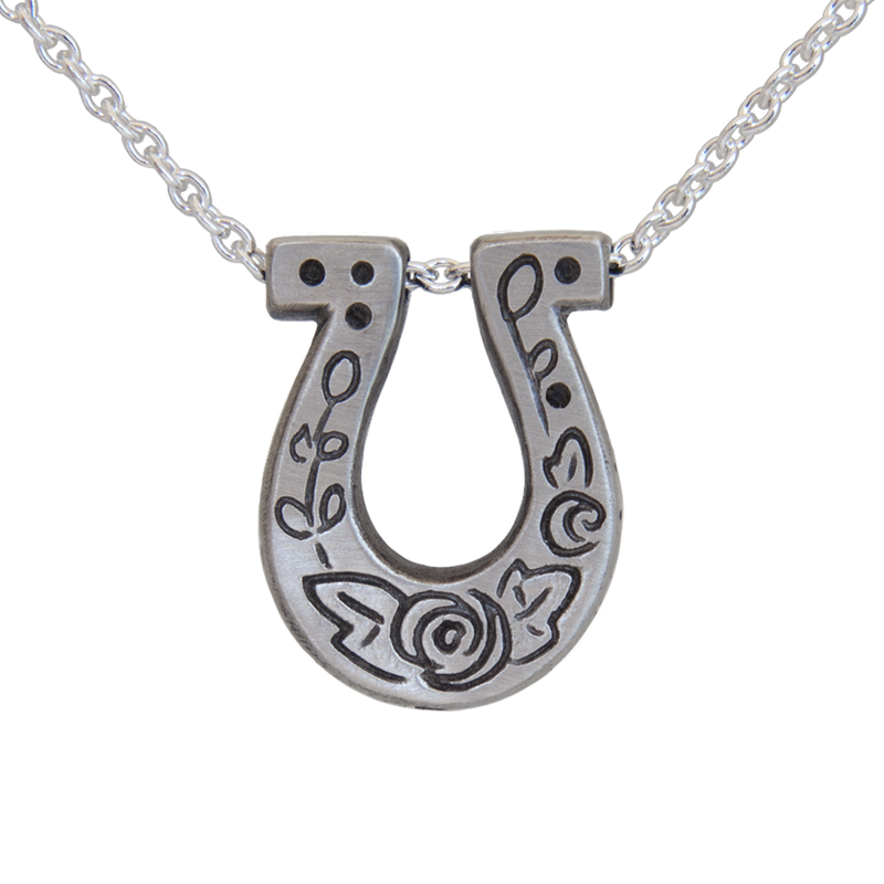 Mini Luck Horseshoe Pendant - Melissa Scoppa Jewelry