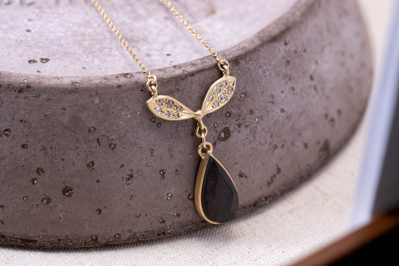 Olive and Arch Ebony Drop Pendant