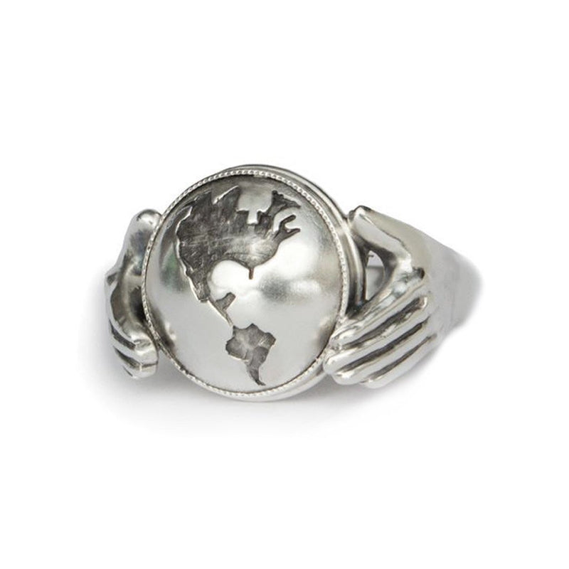 World & Hands Ring - Melissa Scoppa Jewelry