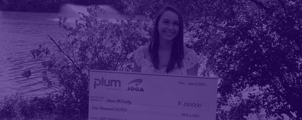 Plum Practicewear in Partnership with JOGA, Award Gymnast, Jenna McCarthy, a $1,000 Scholarship