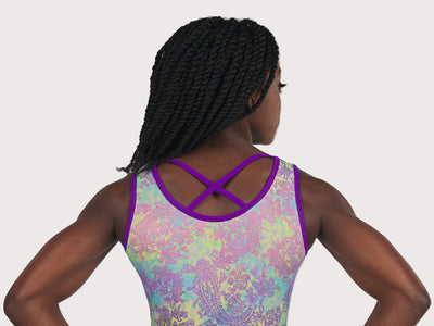 Plum Fly Girl Flip Side Cross-Back Leotard