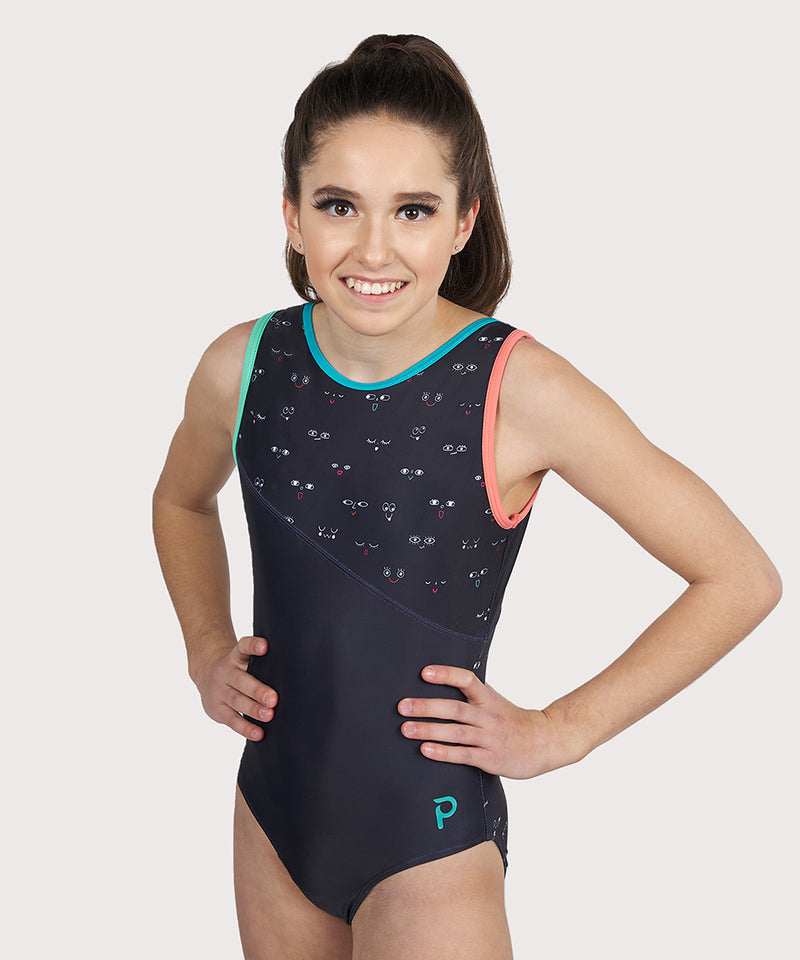 Plum All Eyes on Me Asymmetrical Traditional Leotard